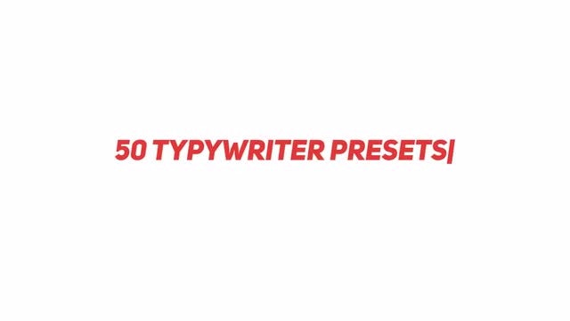 Typewriter Text Animation Presets - After Effects Presets | Motion Array