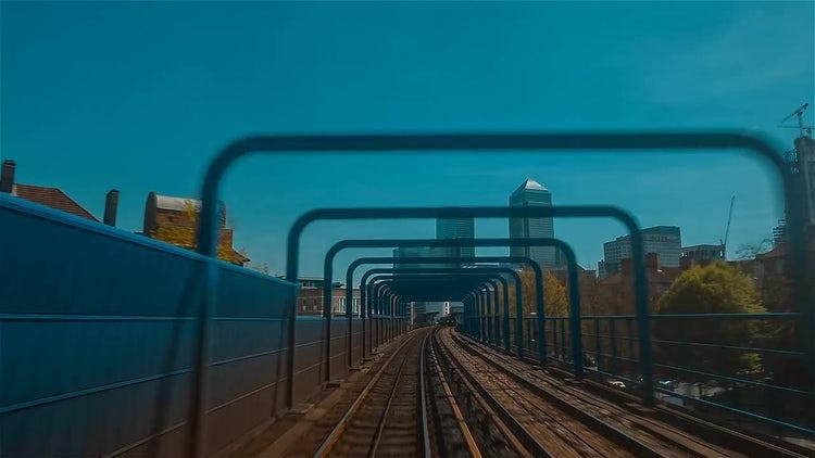 Train Journey In London: Stock Video