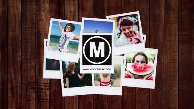 Polaroid Photos Opener: After Effects Templates