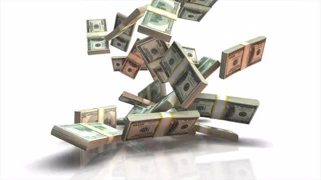 Falling Dollar Stacks: Stock Motion Graphics