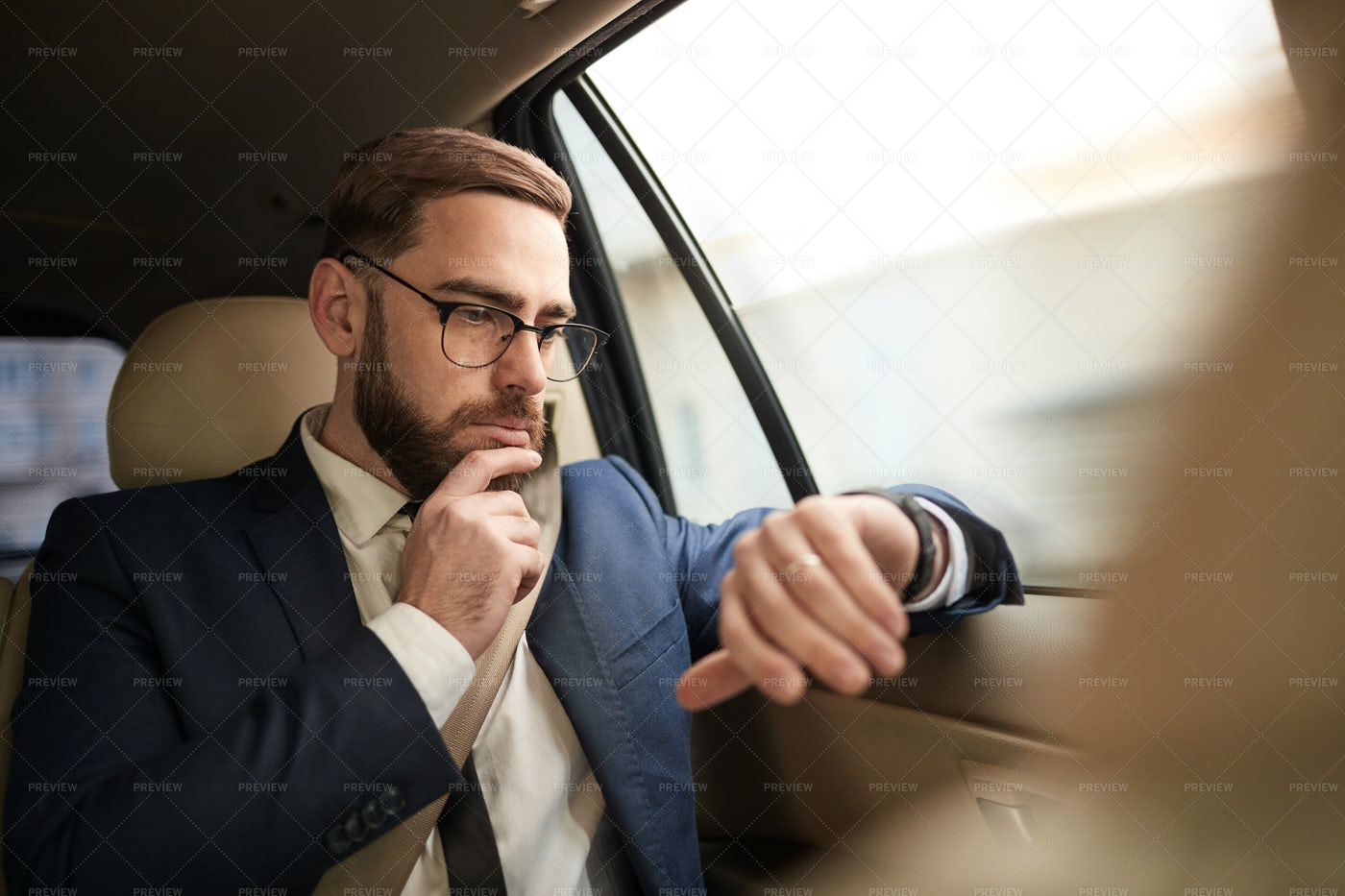 Hurrying To A Meeting: Stock Photos