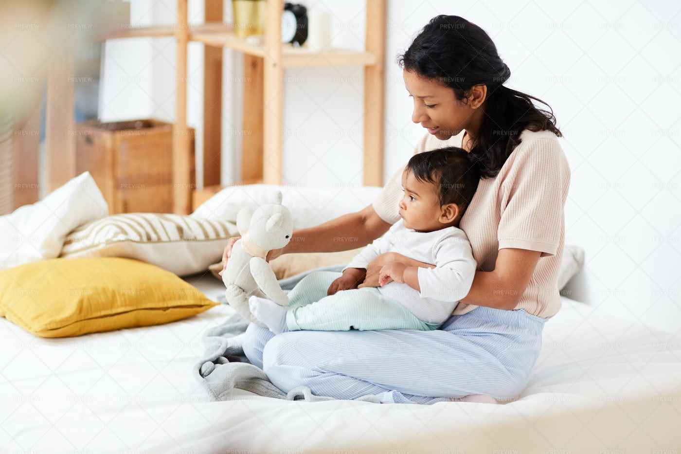 Playing With Her Baby: Stock Photos