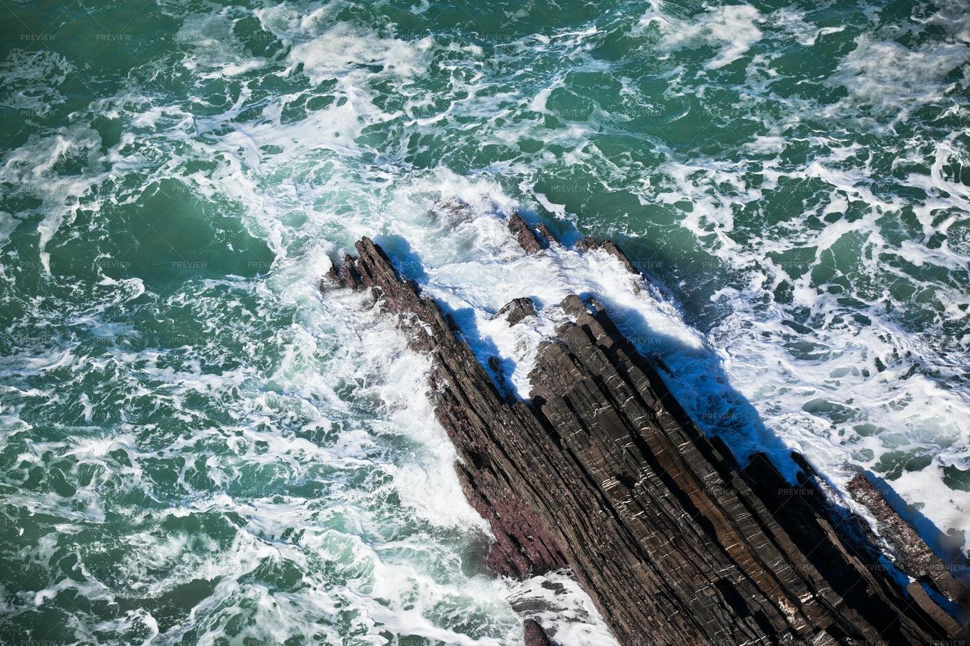 Western Portugal Ocean Coastline: Stock Photos