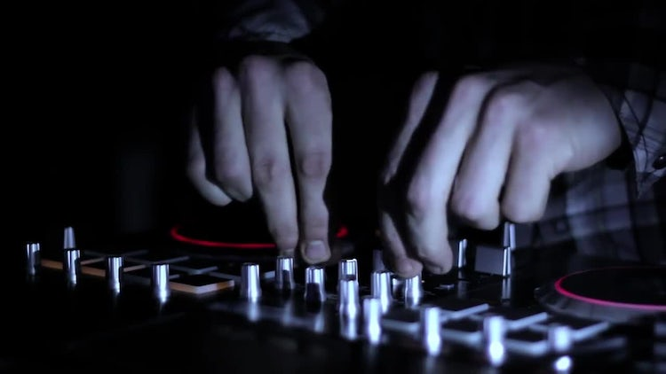 DJ Mixing Music Tracks : Stock Video