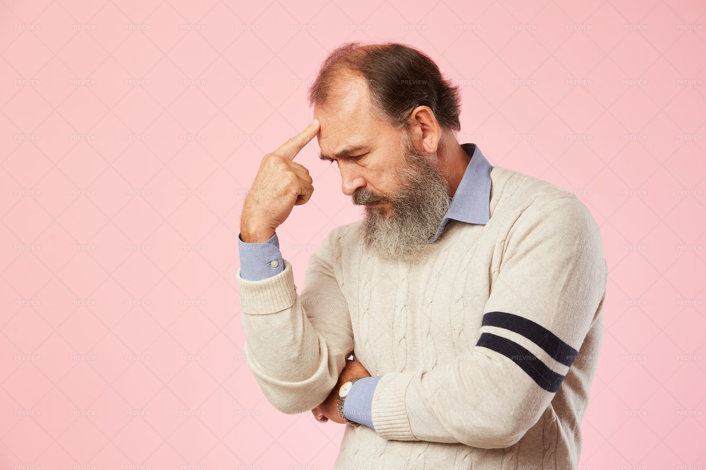Man Looking Pensively: Stock Photos
