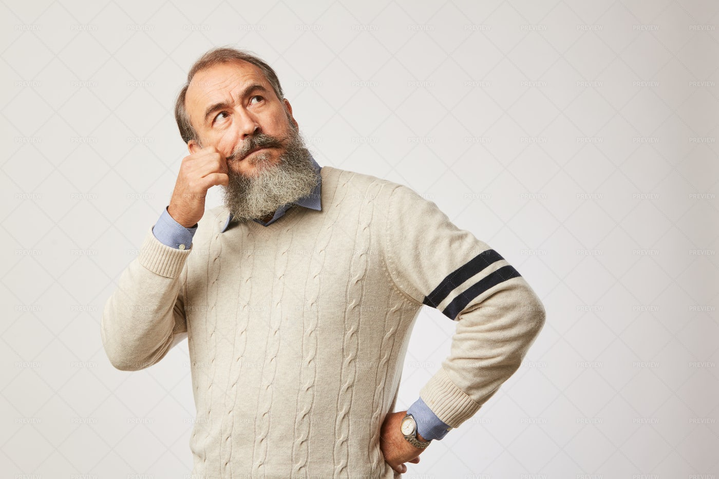 Man Thinking About Something: Stock Photos