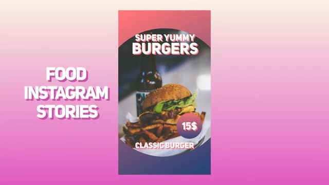 Instagram Food Stories: After Effects Templates