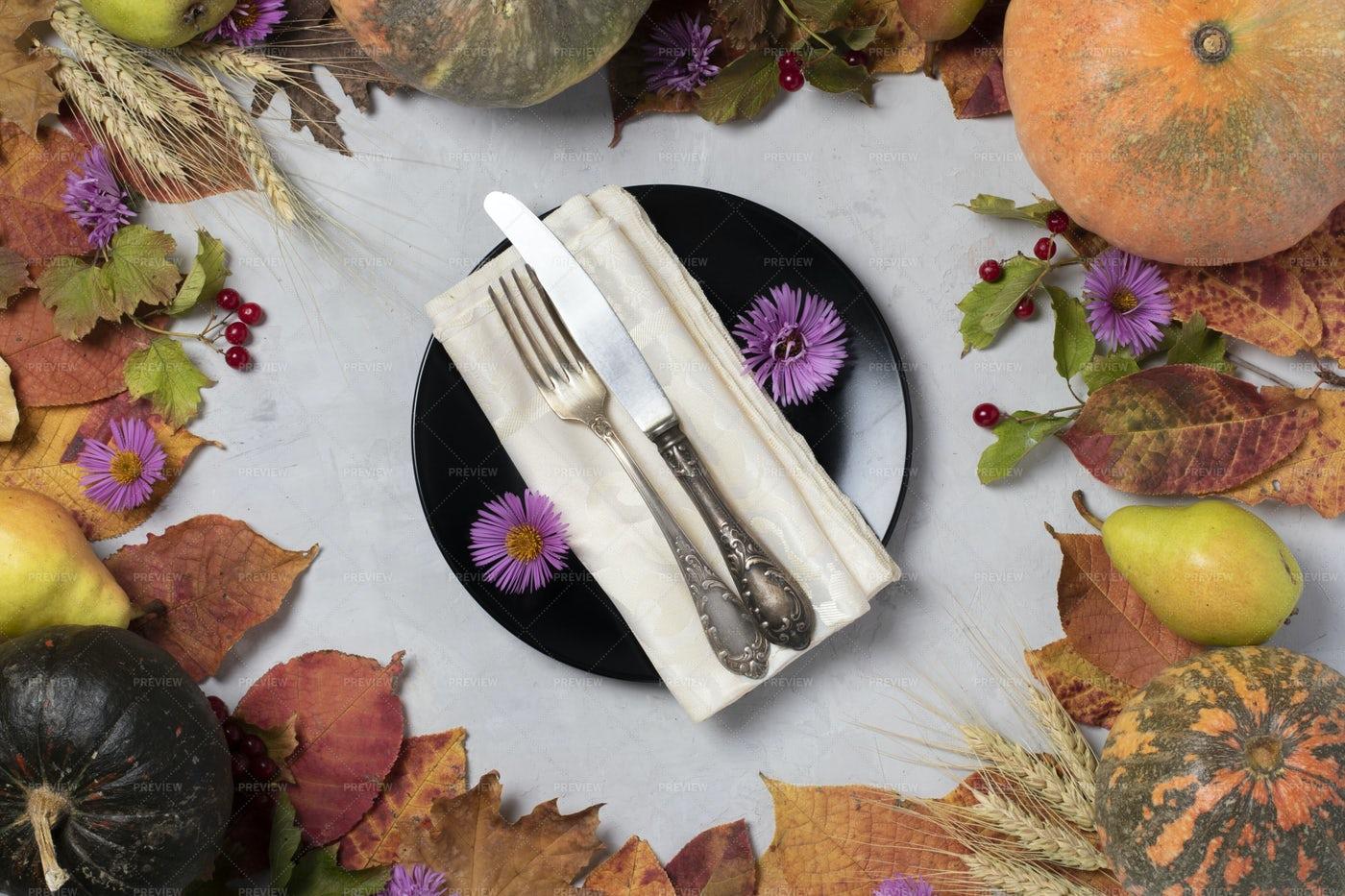 Autumn Harvest Frame: Stock Photos