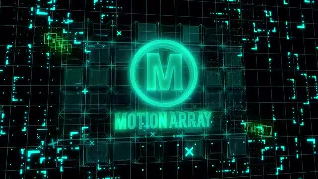 Sci-Fi Crypto Business Logo Intro : After Effects Templates