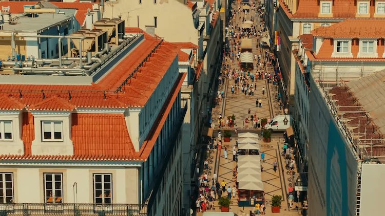 Rua Augusta Street, Lisbon, Portugal: Stock Video