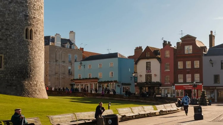 Windsor Castle, Berkshire, England UK: Stock Video