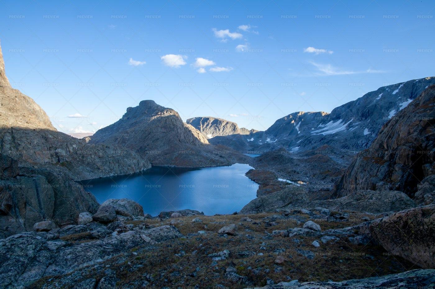 Alpine Lake In Wyoming: Stock Photos