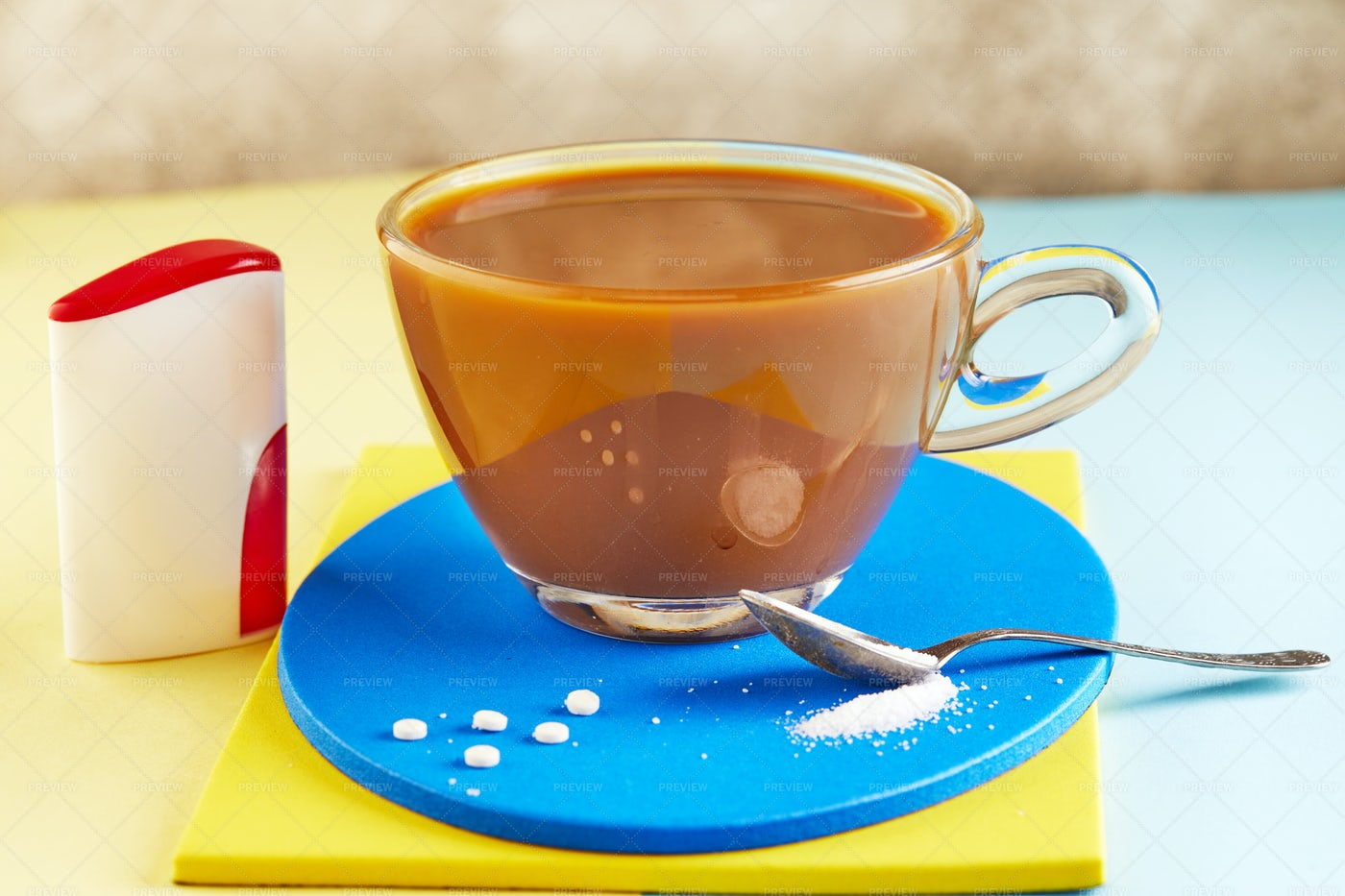 Sugar Substitute With Coffee: Stock Photos