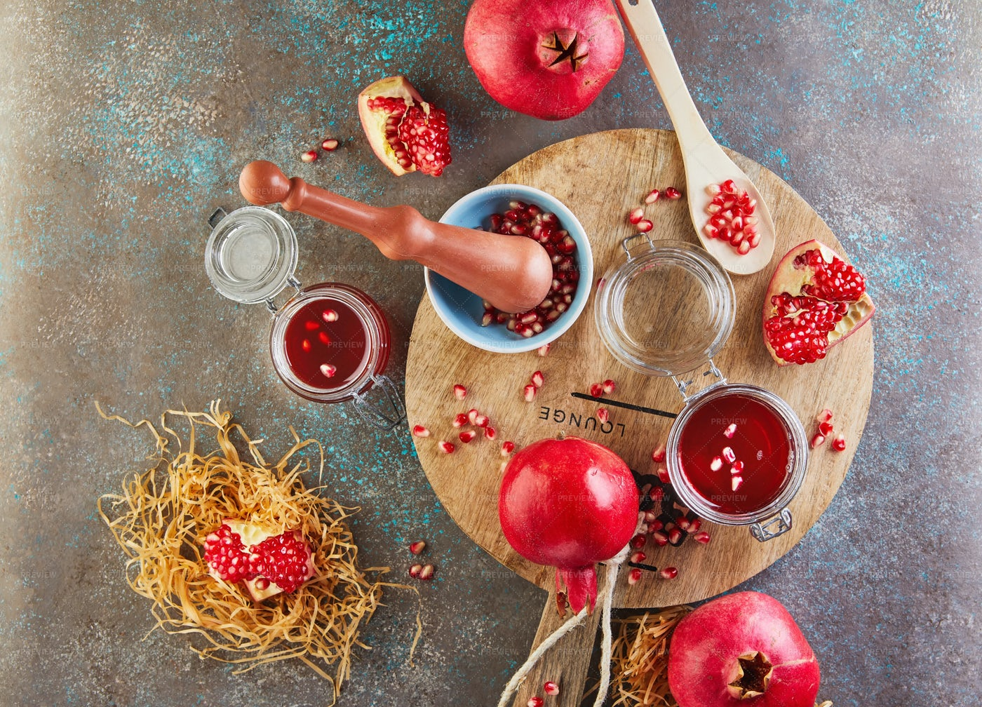 Sweet Red Pomegranate: Stock Photos