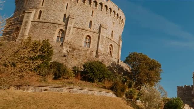 POV Of Windsor Castle : Stock Video