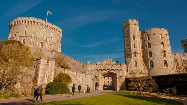 Panoramic View Of Windsor Castle : Stock Video
