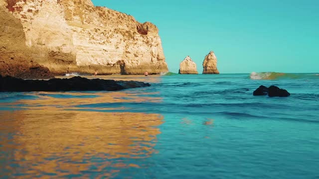 Calming Waves On Beautiful Beach: Stock Video