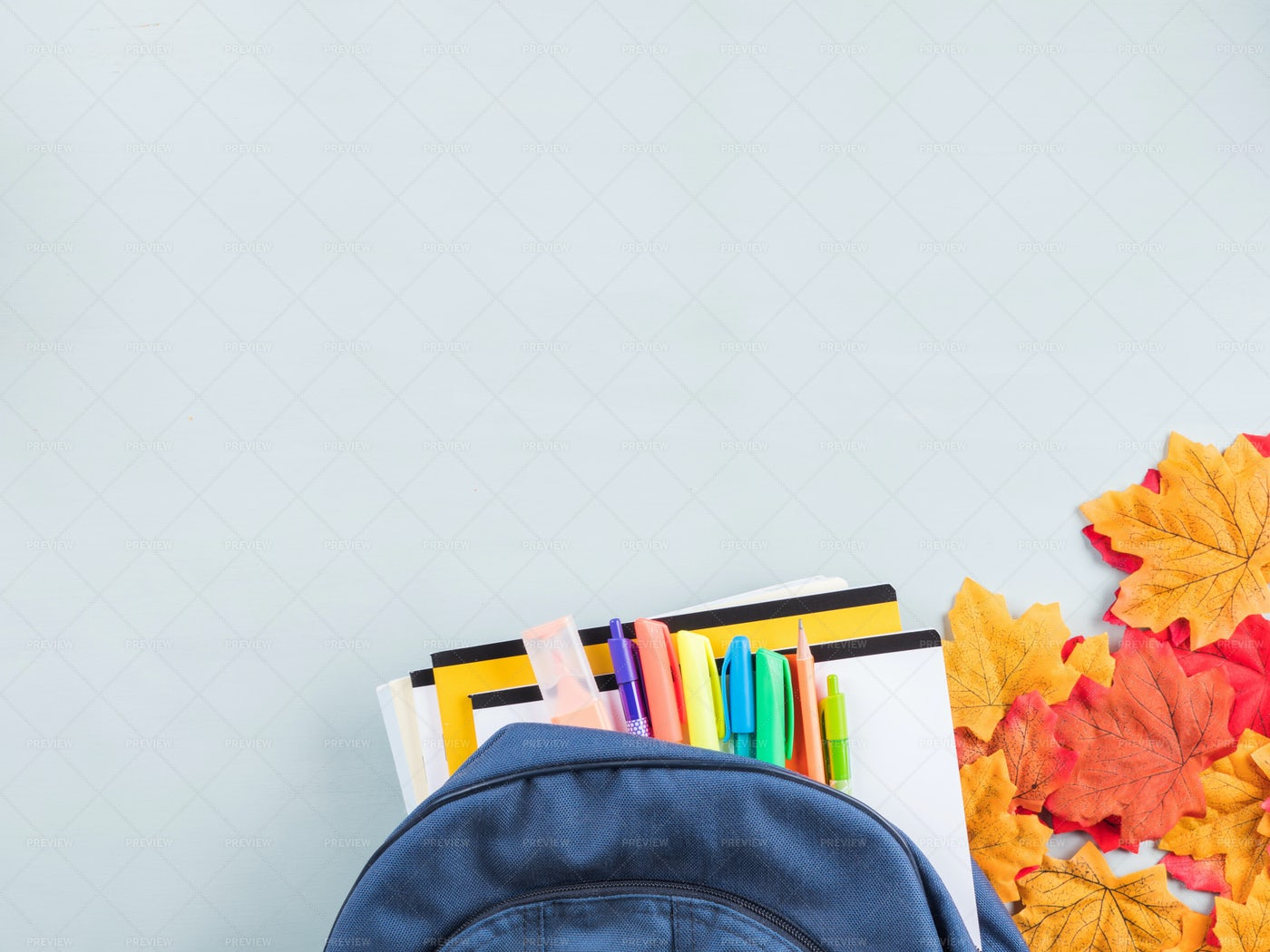 Back To School In Fall: Stock Photos