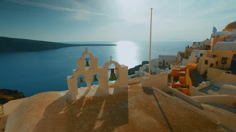 Traditional Cycladic Architecture Of Santorini: Stock Video