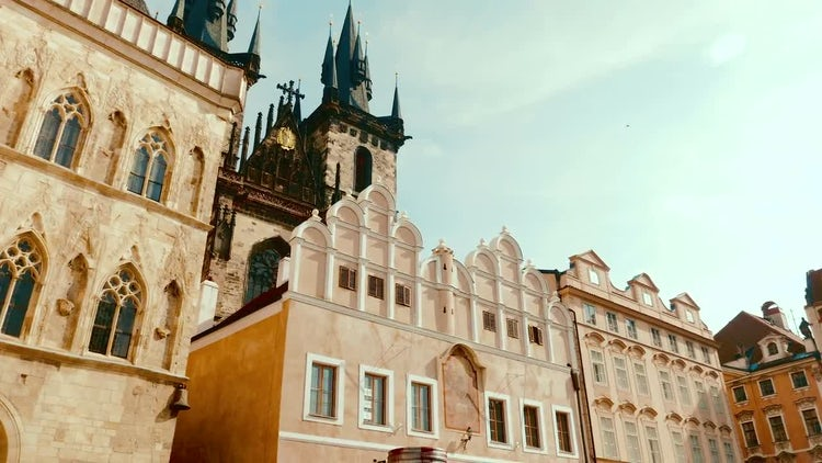 Prague Old Town Square: Stock Video