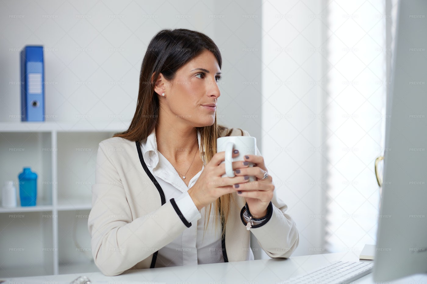 Woman Drinking Tea: Stock Photos