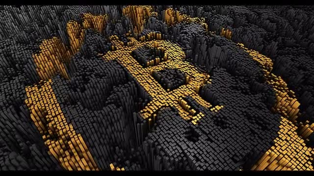 Bitcoin Formation From Blocks : Stock Motion Graphics