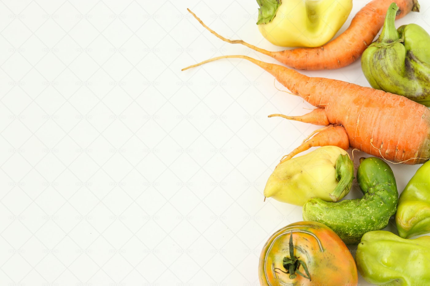 Ugly Organic Vegetables: Stock Photos
