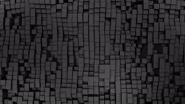 3D Gray Squares: Stock Motion Graphics