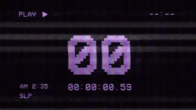 VHS Screen Countdown: Stock Motion Graphics