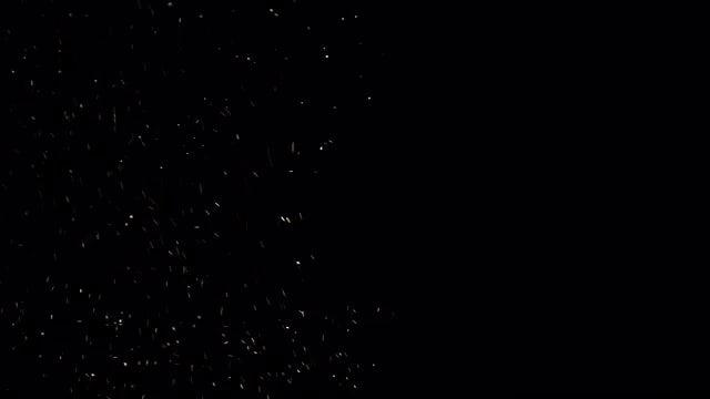 Sparks Flying On Black Background: Stock Video