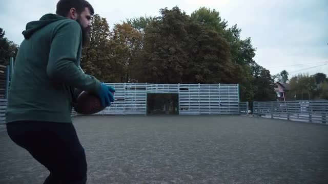 Practicing American Football: Stock Video