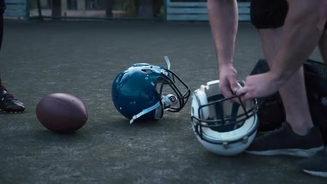 Fixing A Football Helmet : Stock Video
