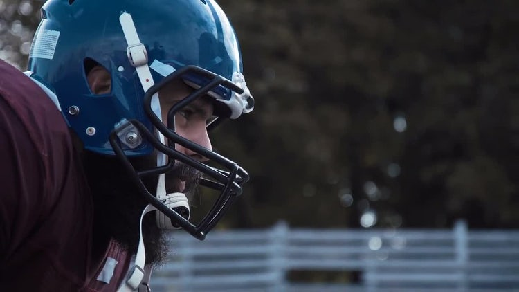 American Football Player: Stock Video