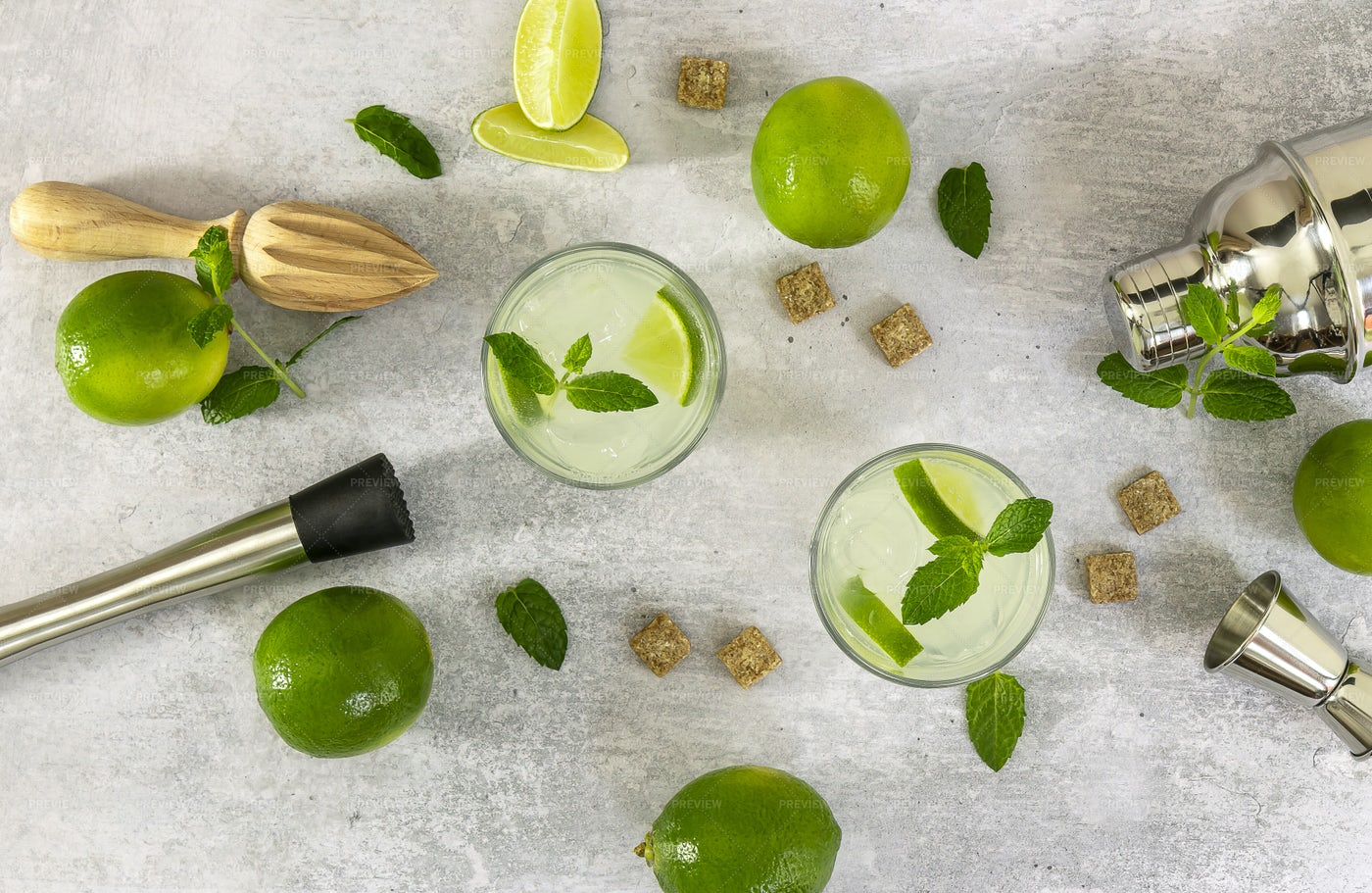 Mojito Cocktails: Stock Photos