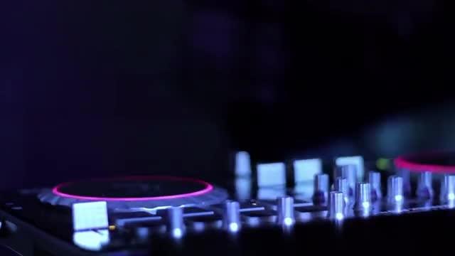 DJ Booth Lights: Stock Video