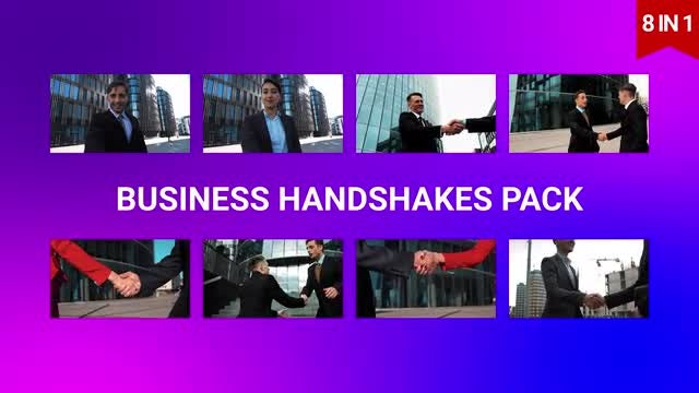 Business Handshakes Pack : Stock Video