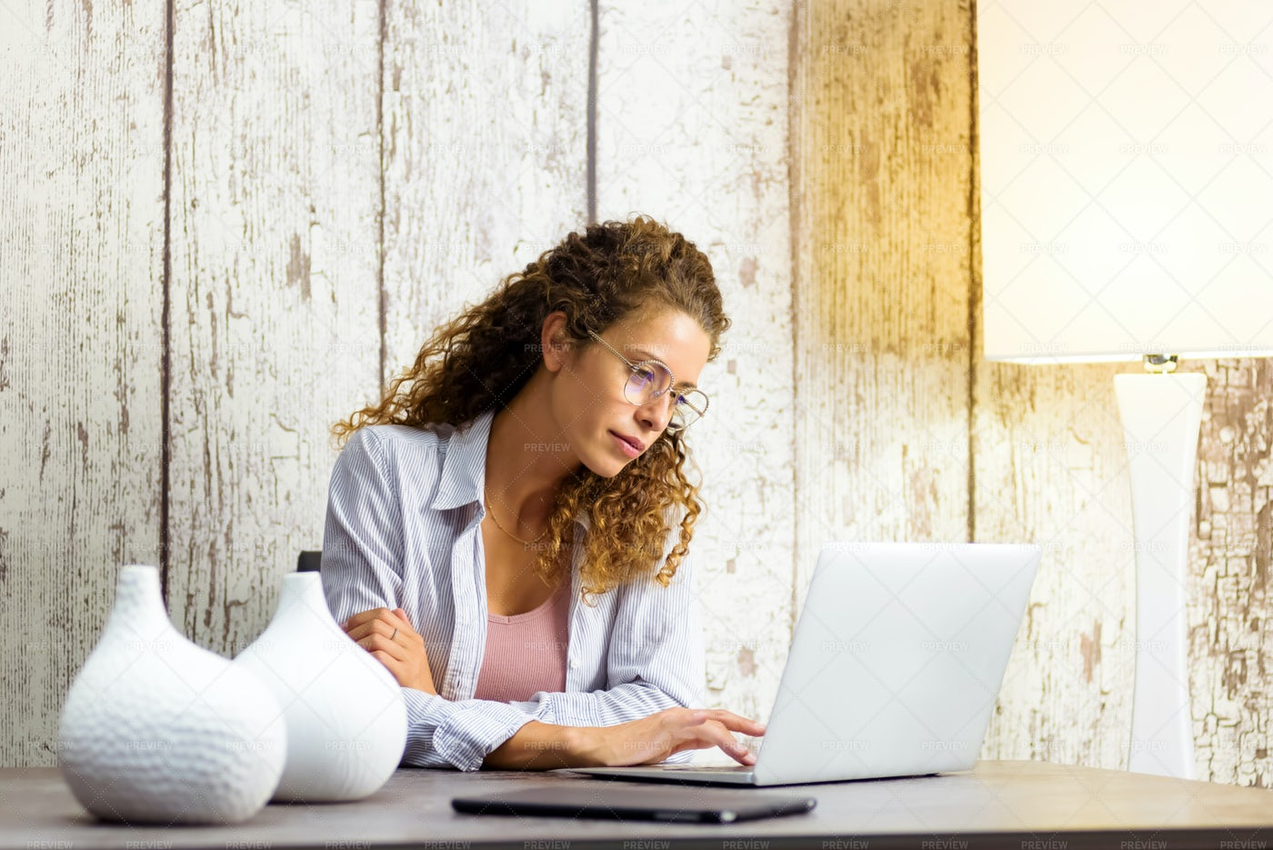 Young Professional Woman Working: Stock Photos