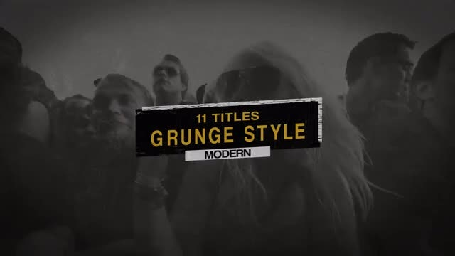 Grunge Titles Pack: Premiere Pro Templates