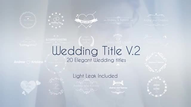 Wedding Title V.2: Motion Graphics Templates