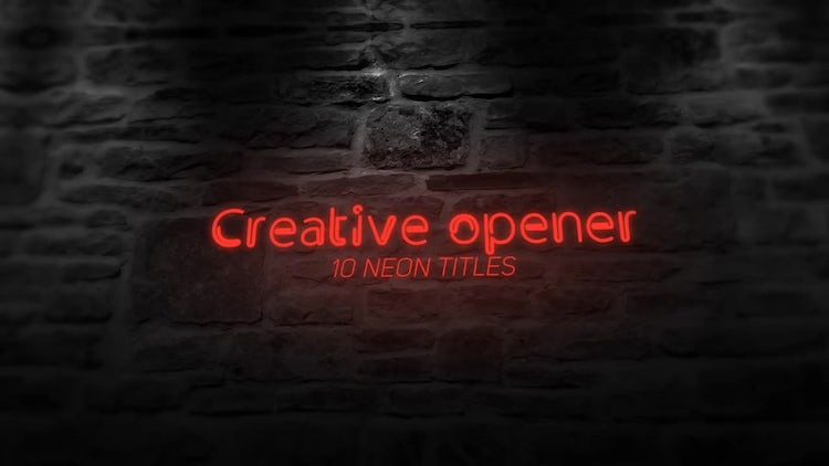 Neon Sign Titles: After Effects Templates