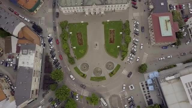 Aerial View Of City Park  : Stock Video