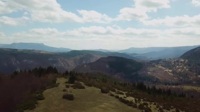 Aerial View Of Mountainous Landscape: Stock Video