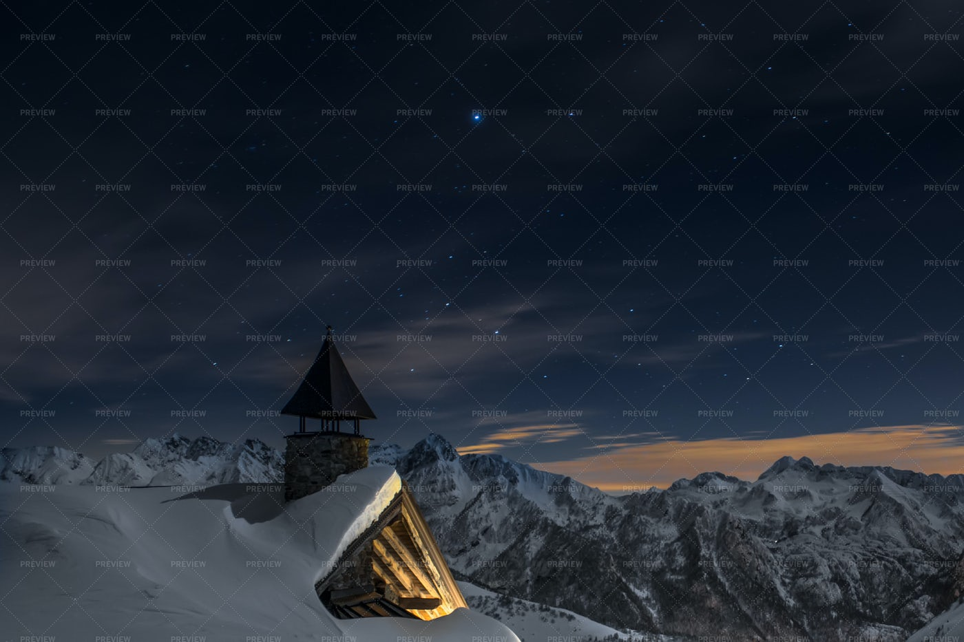 Alpine Church: Stock Photos