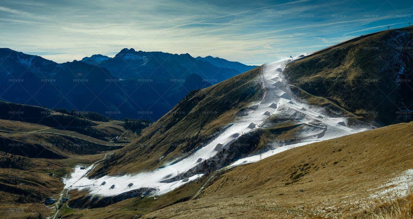 Artificial Skiing Track: Stock Photos