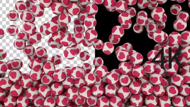 Cute Heart Balls: Stock Motion Graphics