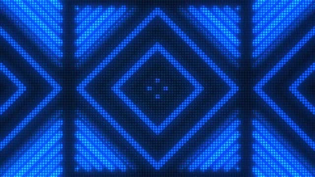 Blue Disco Diamonds VJ Background: Stock Motion Graphics