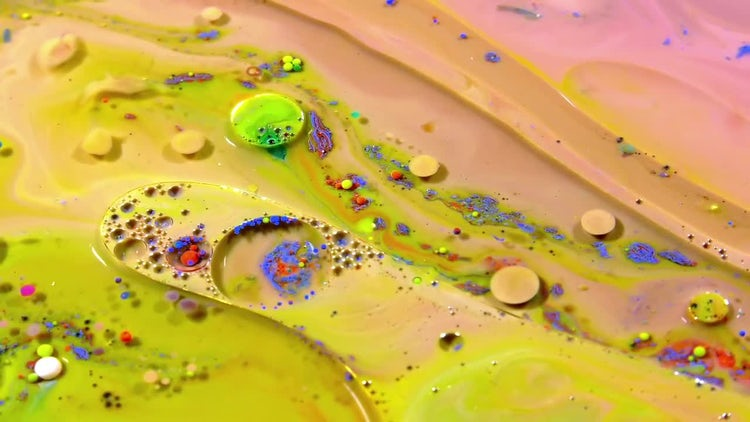 Beautiful Colored Paint Mixtures: Stock Video