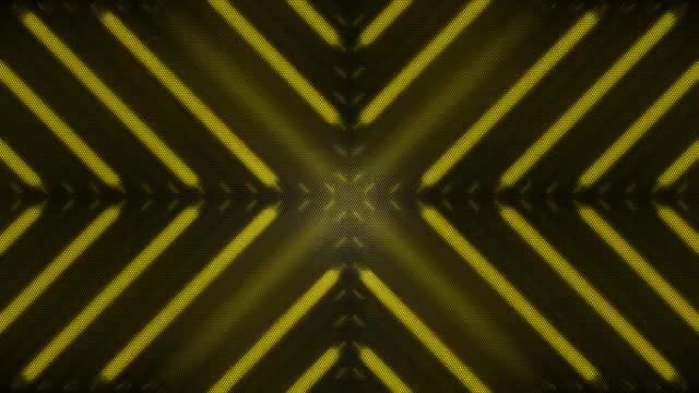 Yellow Disco LED VJ Loop: Stock Motion Graphics