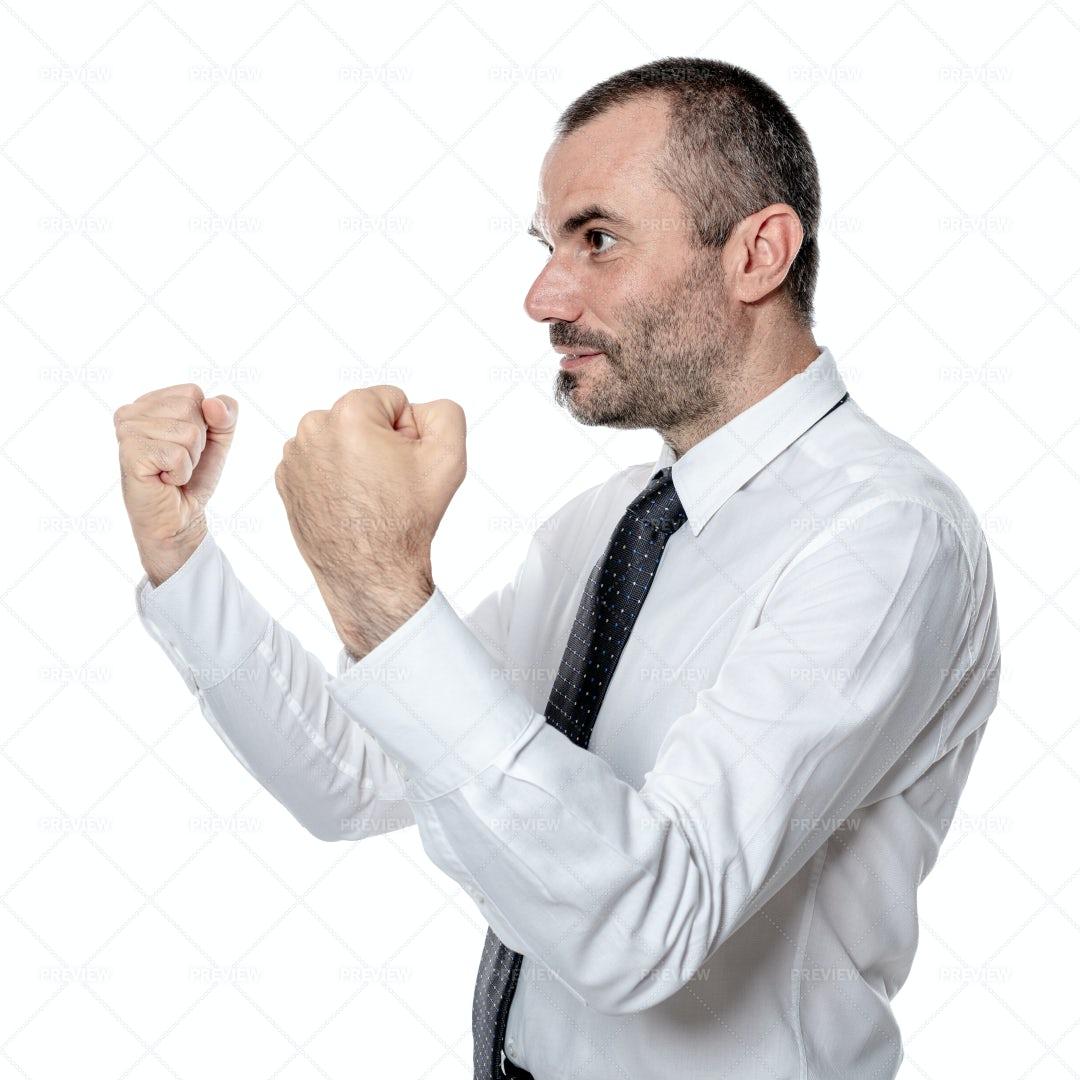 Caucasian Businessman Fighting: Stock Photos