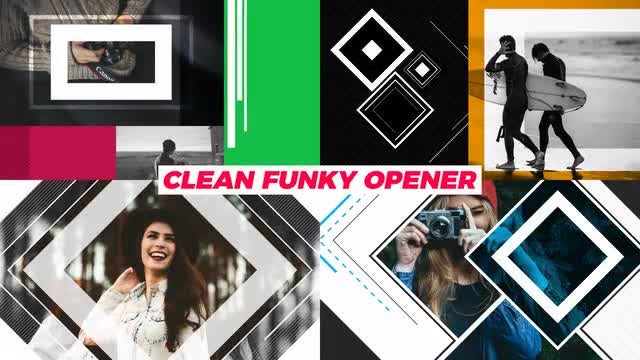 Clean Funky Opener: After Effects Templates